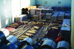 Dunnage in ship's hold